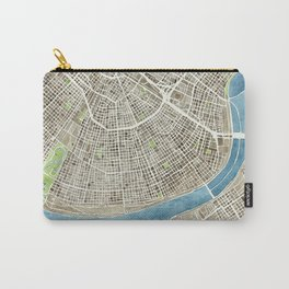 New Orleans City Map Carry-All Pouch