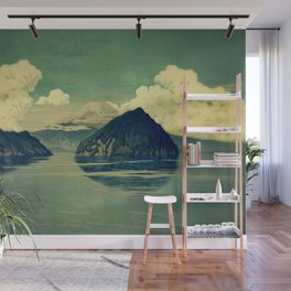 Distant Blues Wall Mural