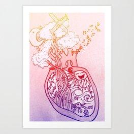 what lies in the heart Art Print