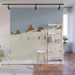 Wes Anderson Hiking Wall Mural
