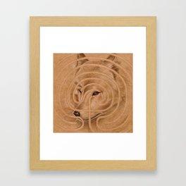 labyrinth's Wolf Framed Art Print