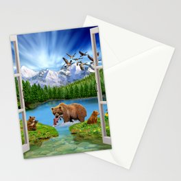 Window to the Great Bear Wilderness Stationery Cards