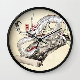 Okami Dragon Zodiac Sign Wall Clock