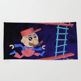 Run Mario run Beach Towel
