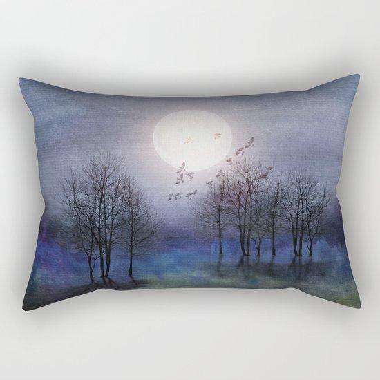 Calling The Moon Rectangular Pillow