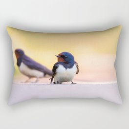 #Barn #swallows are the #lucky #charms of #nature Rectangular Pillow