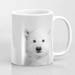 Polar Bear - Black & White Coffee Mug