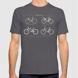 Italicycles - Bikes Made from Italic Fonts T-shirt