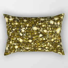 Fresque light gold texture  Rectangular Pillow