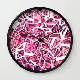 Shattered Abstract Crystals Wall Clock