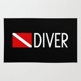Diver Down Flag: Diver Rug
