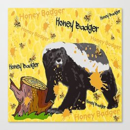 HONEY BADGER SNACK Canvas Print
