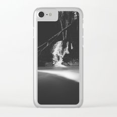 Minimalistic black and white waterfall Clear iPhone Case