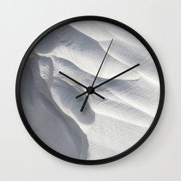 Winter Snow Drift Sculpture Wall Clock