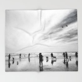 Dog Beach Throw Blanket
