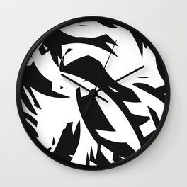addicted to black & white Wall Clock