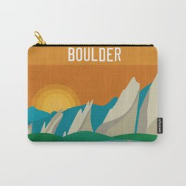 Boulder, Colorado - Skyline Illustration by Loose Petals Carry-All Pouch
