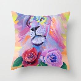 Proud Lion Throw Pillow