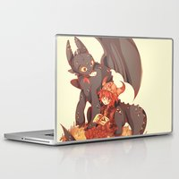 how to train your dragon Laptop & iPad Skins featuring How to Train your dragon! by SweetOwls