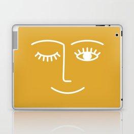 wink / mustard Laptop & iPad Skin