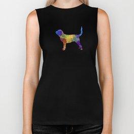 Bloodhound in watercolor Biker Tank