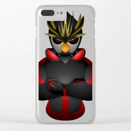Angry Royal Penguin Clear iPhone Case
