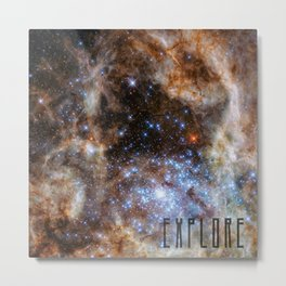 Explore - Space and the Universe Metal Print