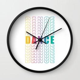 """Dance Shirt For Music Lovers """"Dance"""" T-shirt Design Musical Clubbing Dj Dancer Beat Movement Wall Clock"""