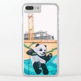 Graffiti Panda Clear iPhone Case