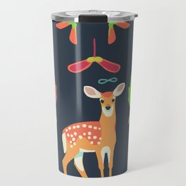 White-tailed Deer + Red Maple Travel Mug