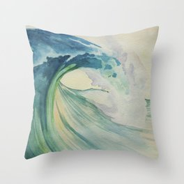 Incoming Energy Wave Throw Pillow