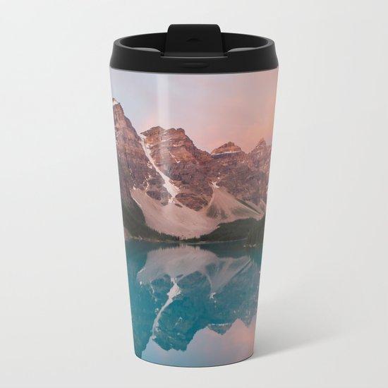 Moraine Lake, Canada Metal Travel Mug