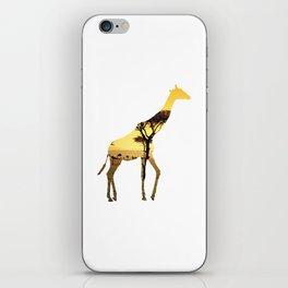 Giraffe Cutout 2 iPhone Skin