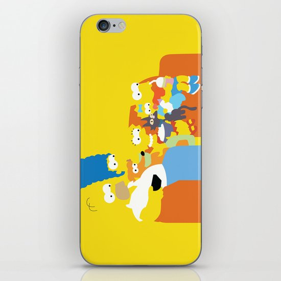 The Simpsons - Family iPhone & iPod Skin