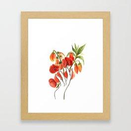 botanical hands Framed Art Print