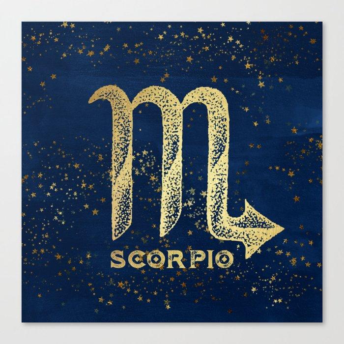 Scorpio Zodiac Sign Canvas Print