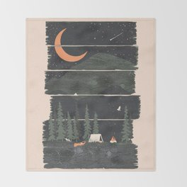 Wish I Was Camping... Throw Blanket