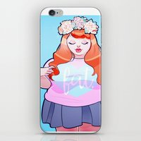 fat iPhone & iPod Skins featuring Fat. by Jenn St Onge Illustration