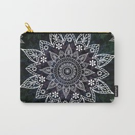 Rising Soul Mandala Design White Blue Green Carry-All Pouch