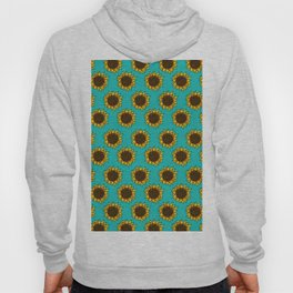 Aqua Sunflowers Hoody