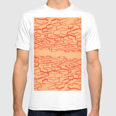 Cars White MEDIUM Mens Fitted Tee