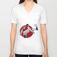 arsenal V-neck T-shirts featuring Thierry Henry by siddick49