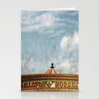 carousel Stationery Cards featuring Carousel by ALLY COXON