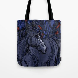 Valor the Mustang Tote Bag