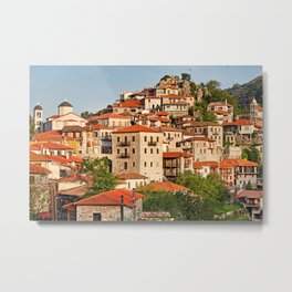 Dimitsana is a mountain village in Arcadia, Peloponnese, Greece. Metal Print