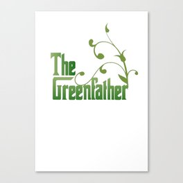 The Greenfather An Earthday Parody Canvas Print