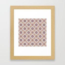 Broken Pieces Abstract Geometric Print Seamless Pattern Framed Art Print