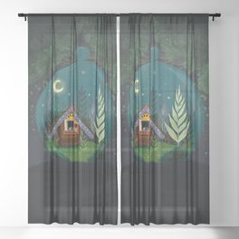 The Home Of Secret Forest Magic Sheer Curtain