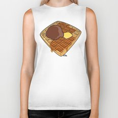 Waffle Time is Anytime. Biker Tank