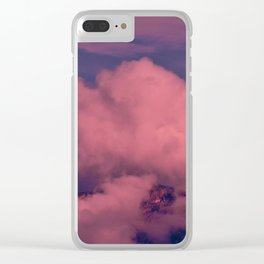 Winter Storm Clouds Clear iPhone Case